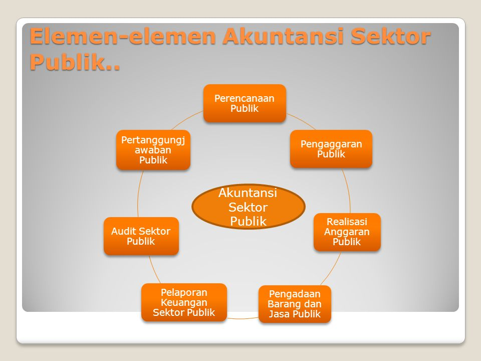 Elemen-elemen Akuntansi Sektor Publik..