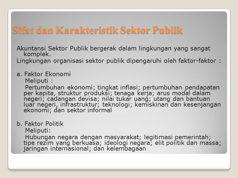 Sifat dan Karakteristik Sektor Publik