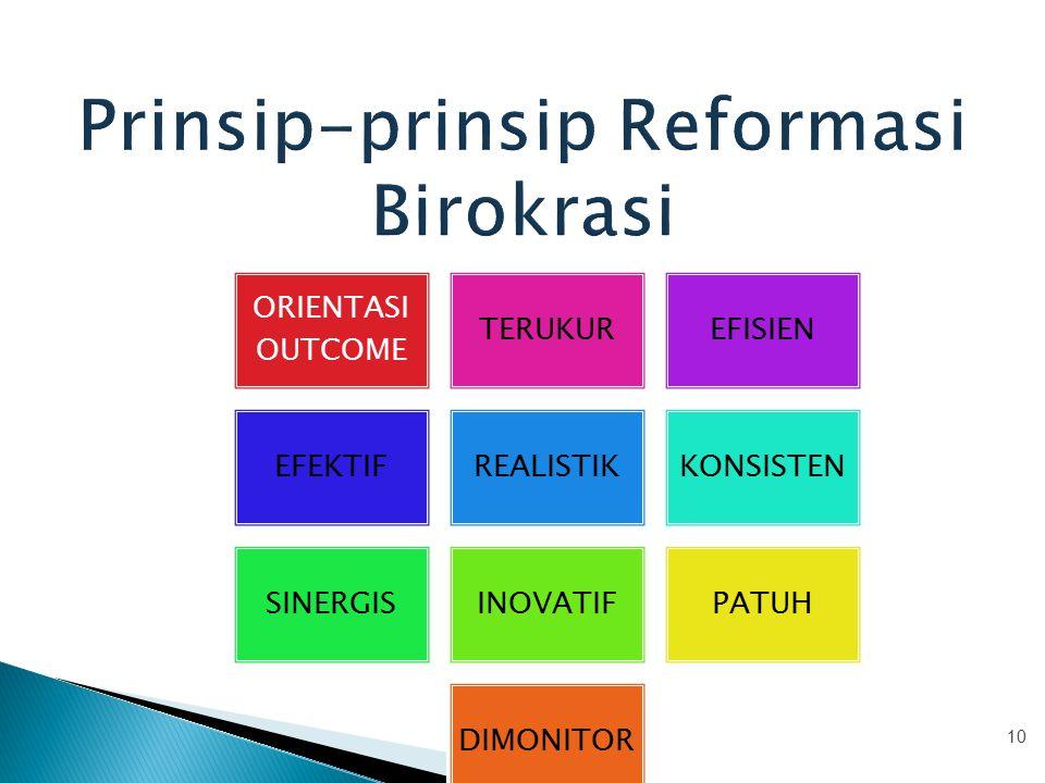 Prinsip-prinsip Reformasi Birokrasi