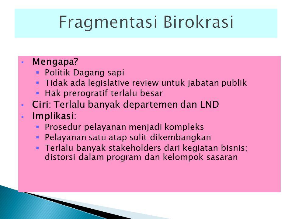 Fragmentasi Birokrasi