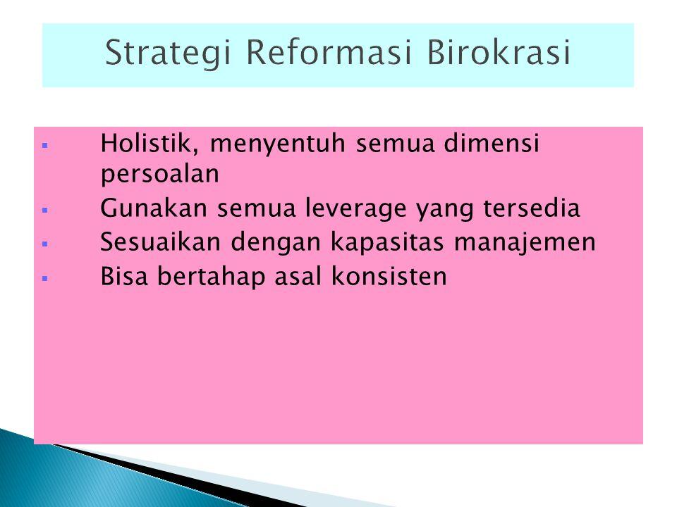 Strategi Reformasi Birokrasi
