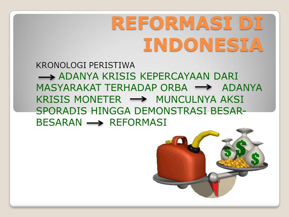 REFORMASI DI INDONESIA