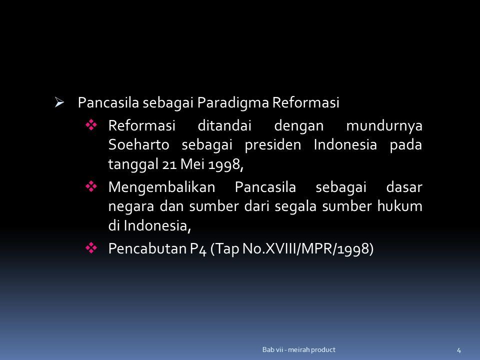 Pancasila sebagai Paradigma Reformasi