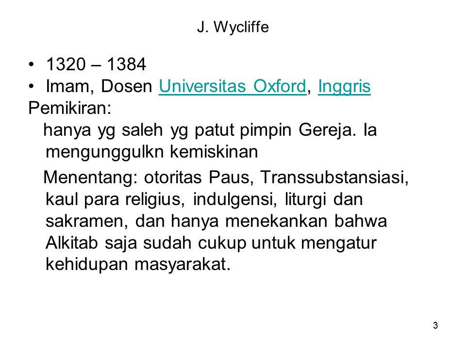 Imam, Dosen Universitas Oxford, Inggris Pemikiran: