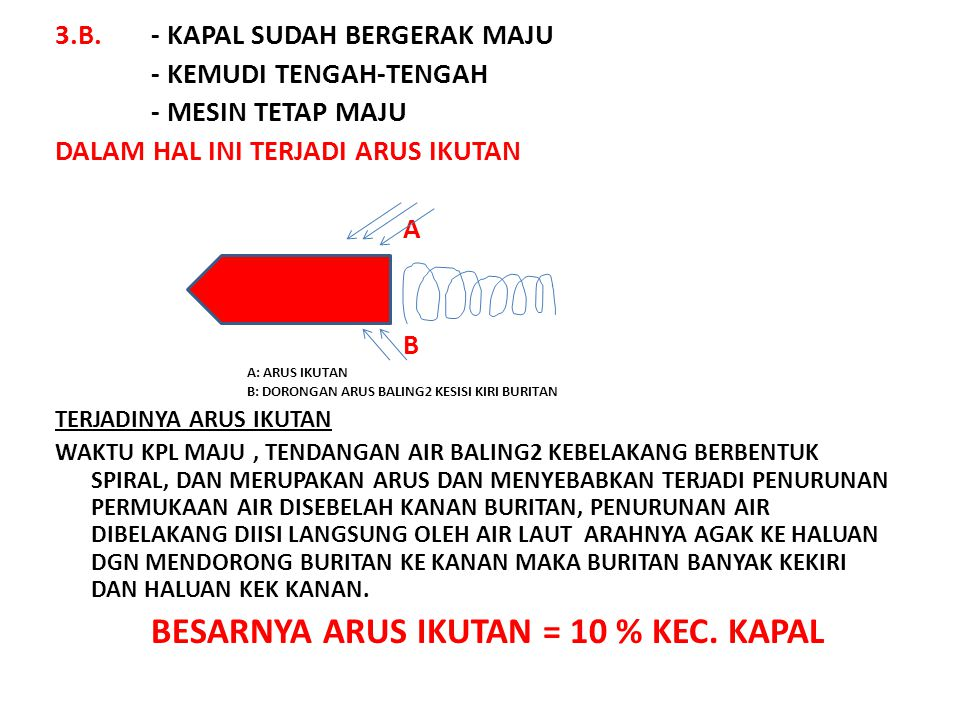 3.B. - KAPAL SUDAH BERGERAK MAJU - KEMUDI TENGAH-TENGAH