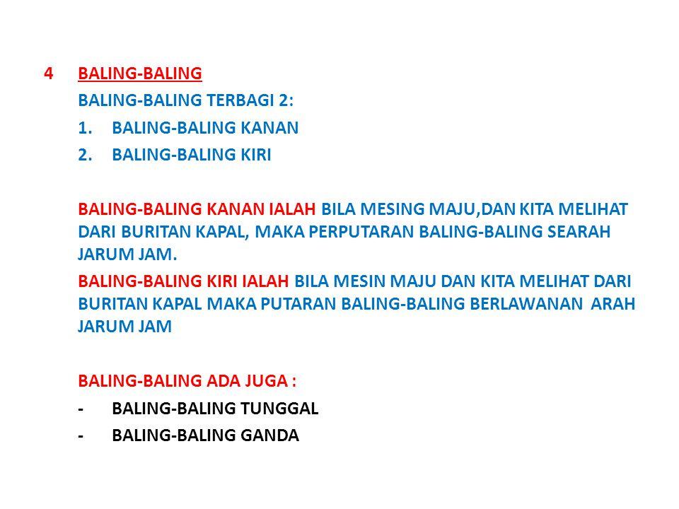 BALING-BALING BALING-BALING TERBAGI 2: 1. BALING-BALING KANAN. 2. BALING-BALING KIRI.