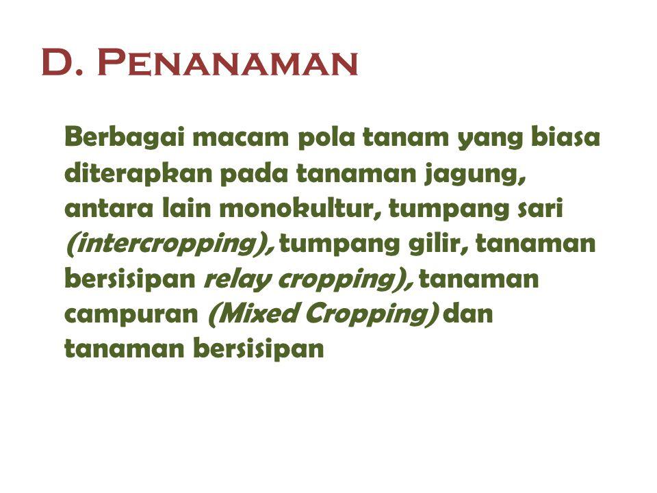 D. Penanaman