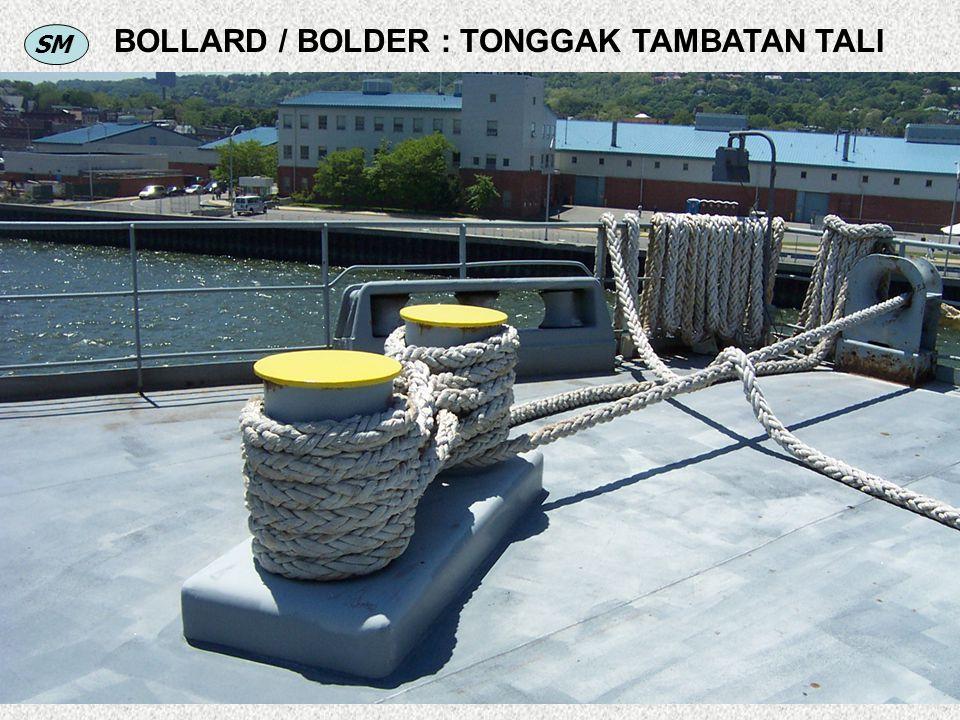 BOLLARD / BOLDER : TONGGAK TAMBATAN TALI