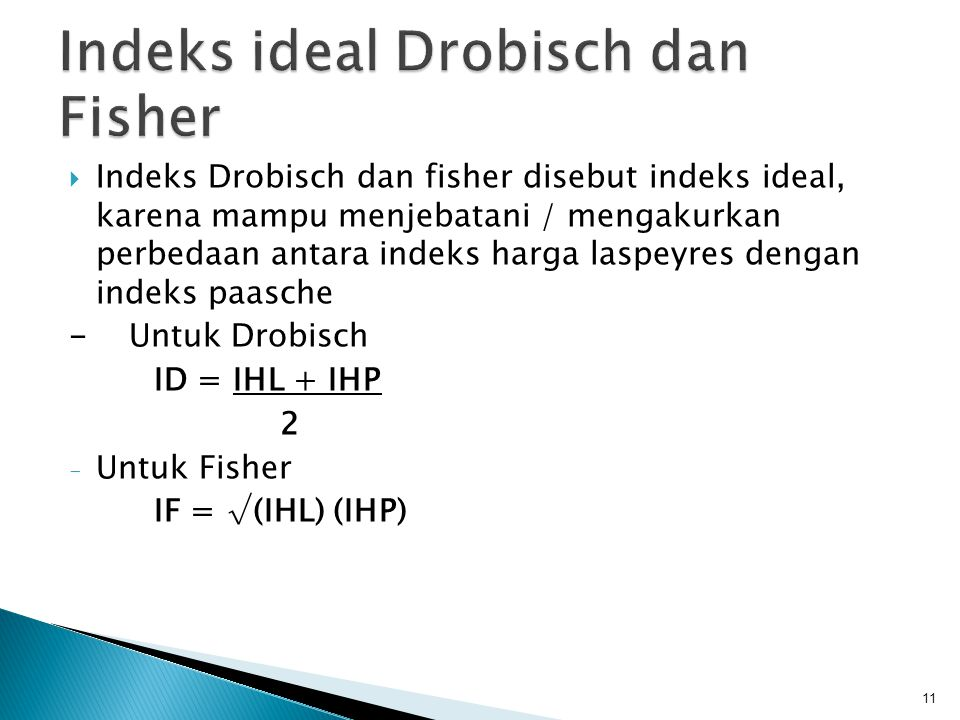 Indeks ideal Drobisch dan Fisher