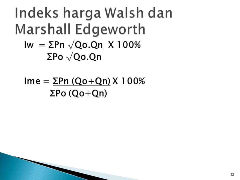 Indeks harga Walsh dan Marshall Edgeworth