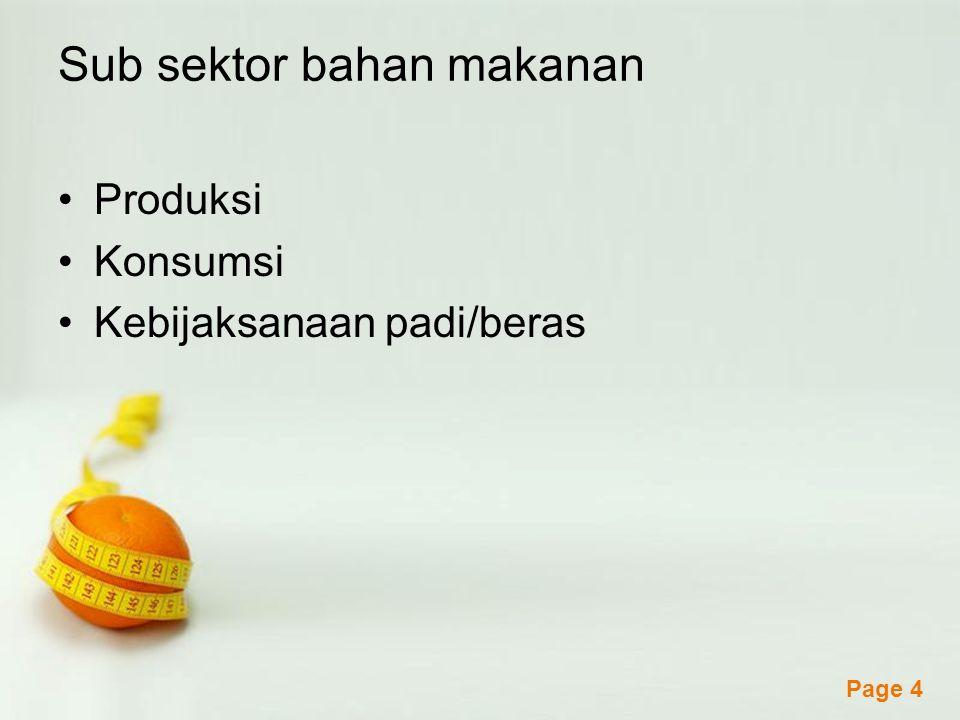 Sub sektor bahan makanan