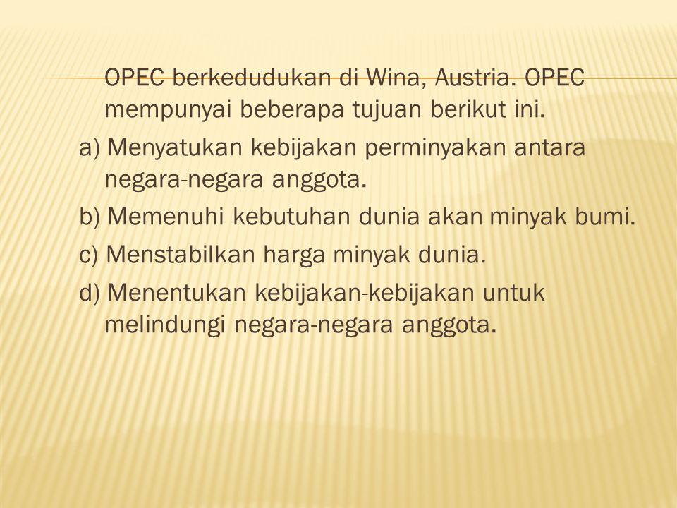 OPEC berkedudukan di Wina, Austria