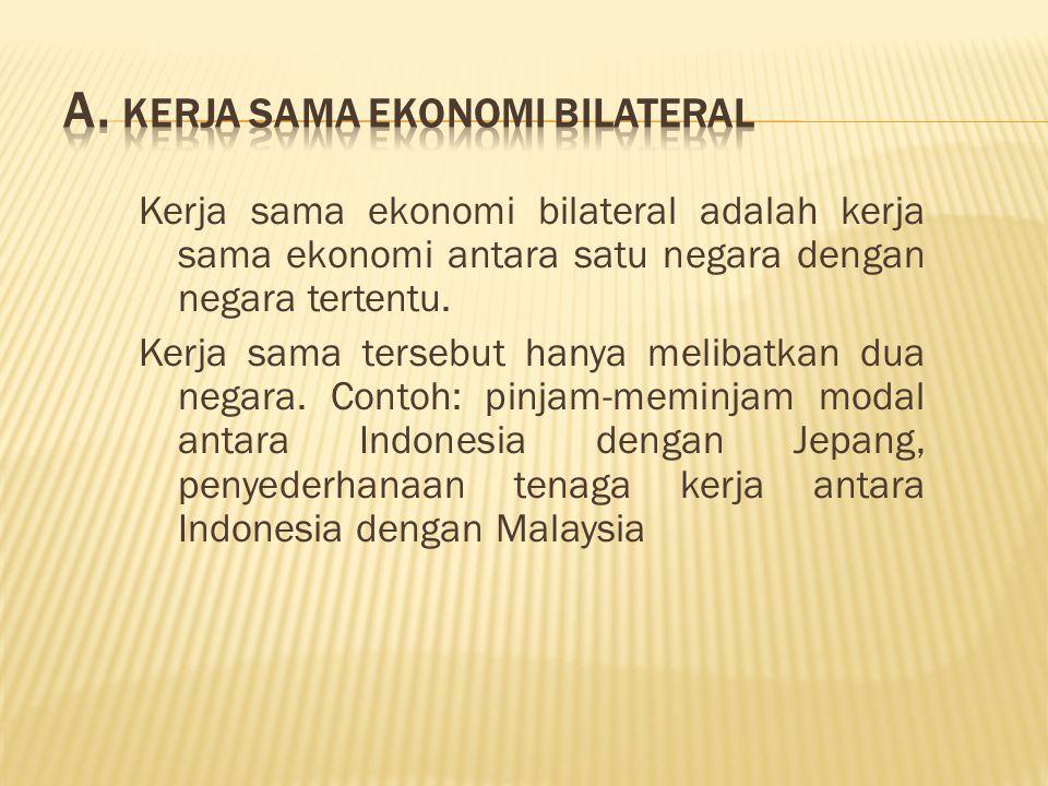 a. Kerja Sama Ekonomi Bilateral