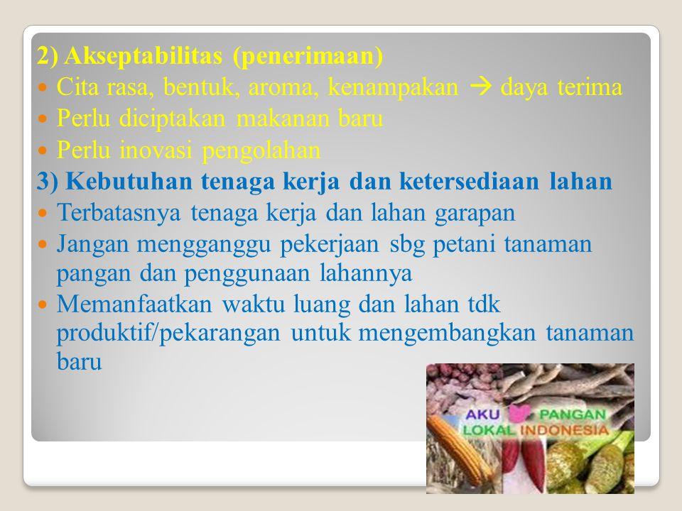 2) Akseptabilitas (penerimaan)