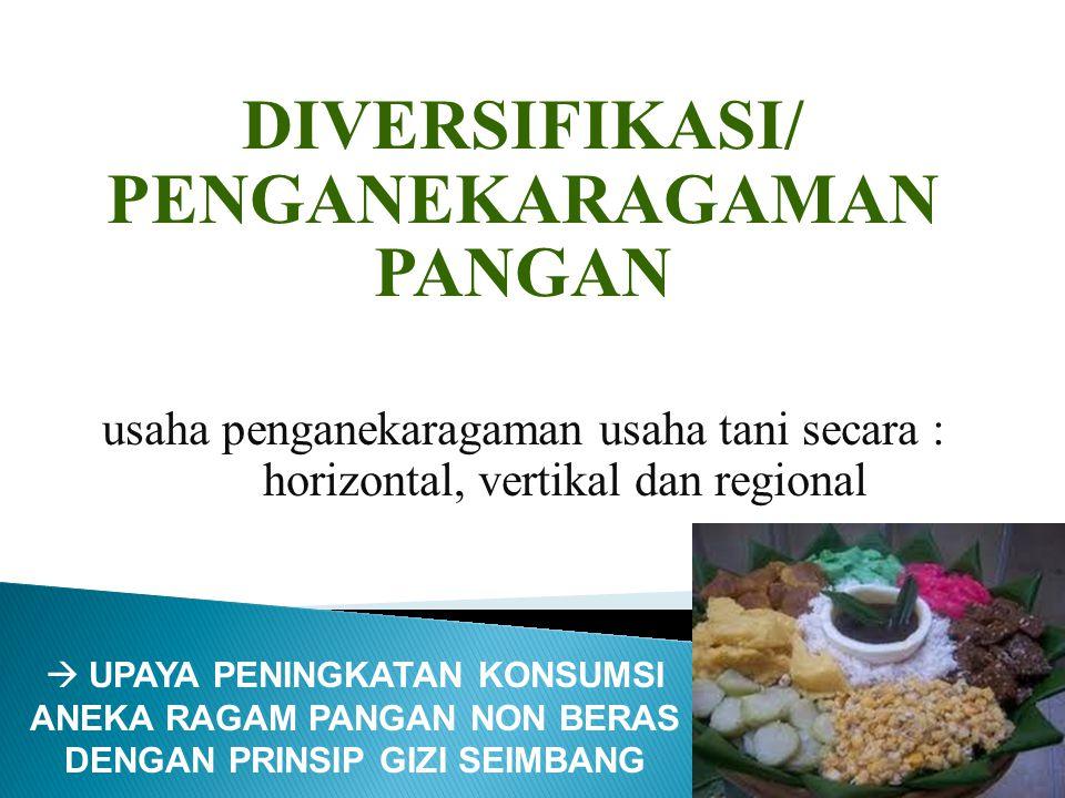 DIVERSIFIKASI/ PENGANEKARAGAMAN PANGAN