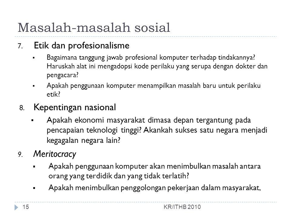 Masalah-masalah sosial