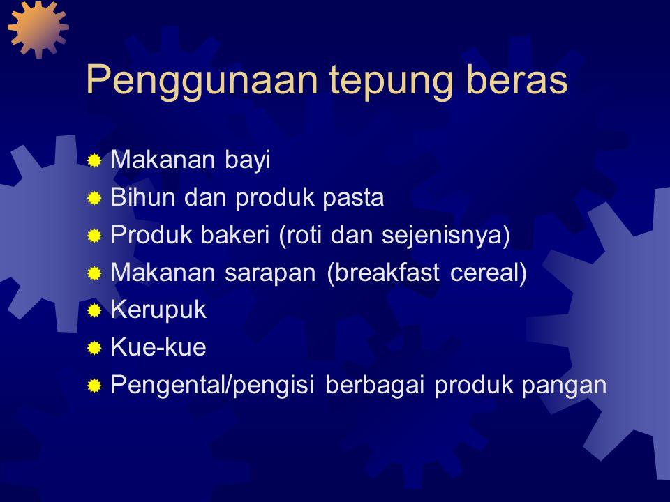 Penggunaan tepung beras