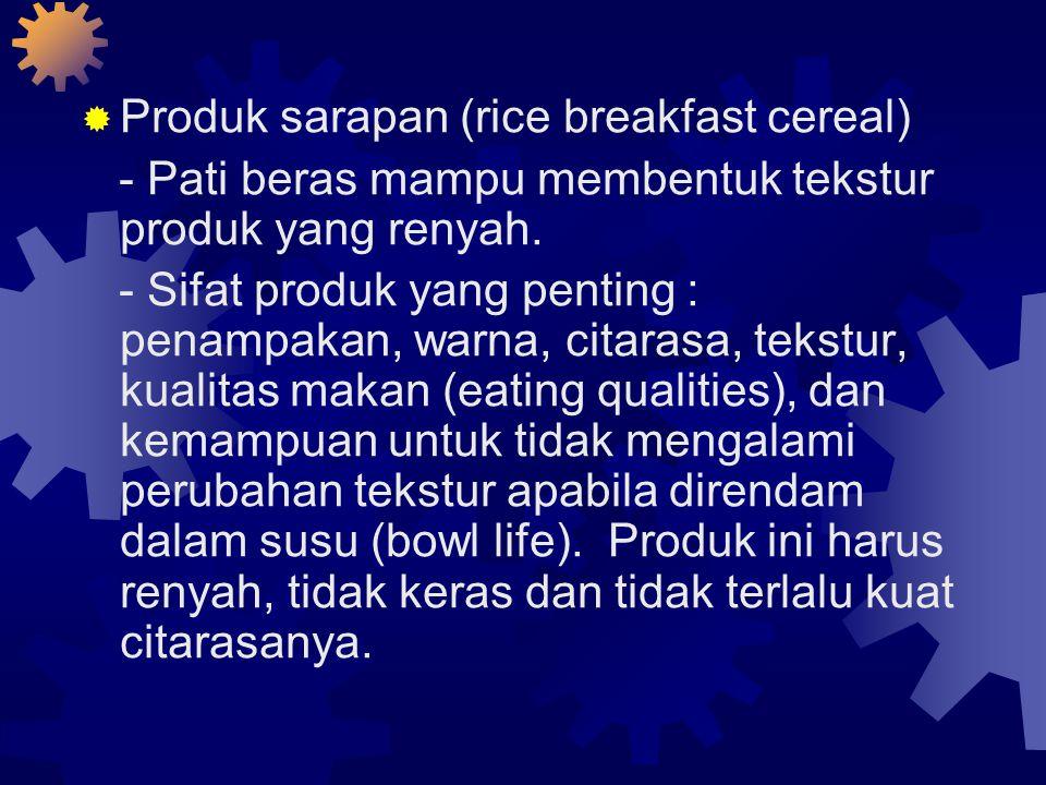 Produk sarapan (rice breakfast cereal)