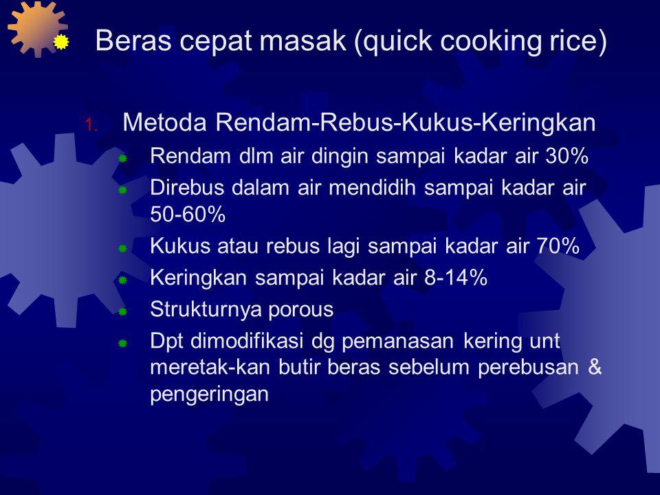 Beras cepat masak (quick cooking rice)