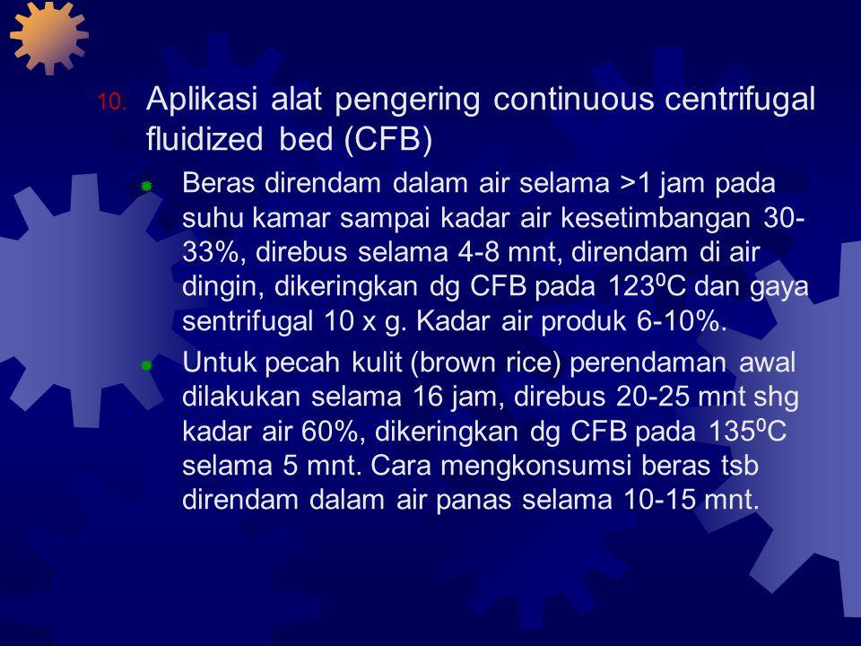 Aplikasi alat pengering continuous centrifugal fluidized bed (CFB)