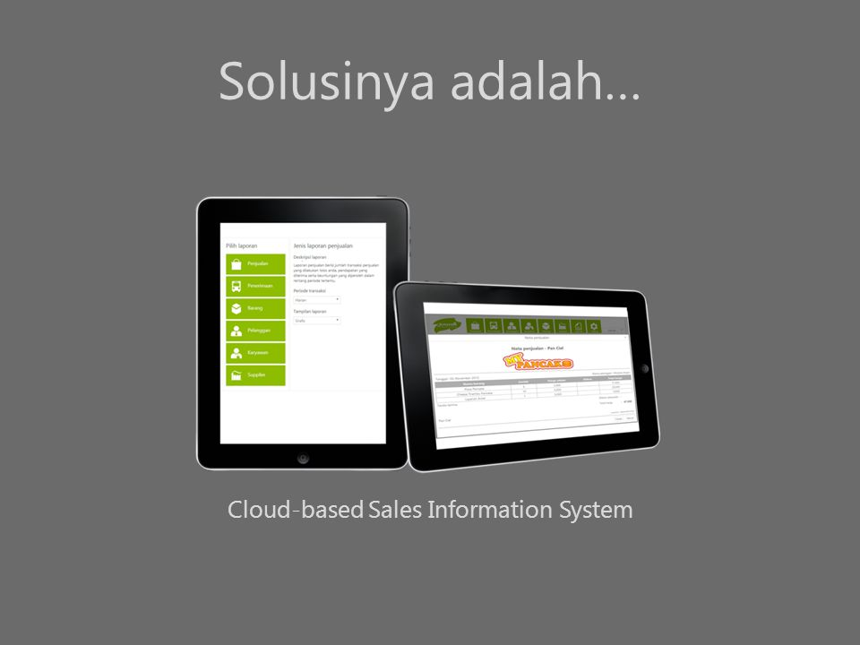 Cloud-based Sales Information System