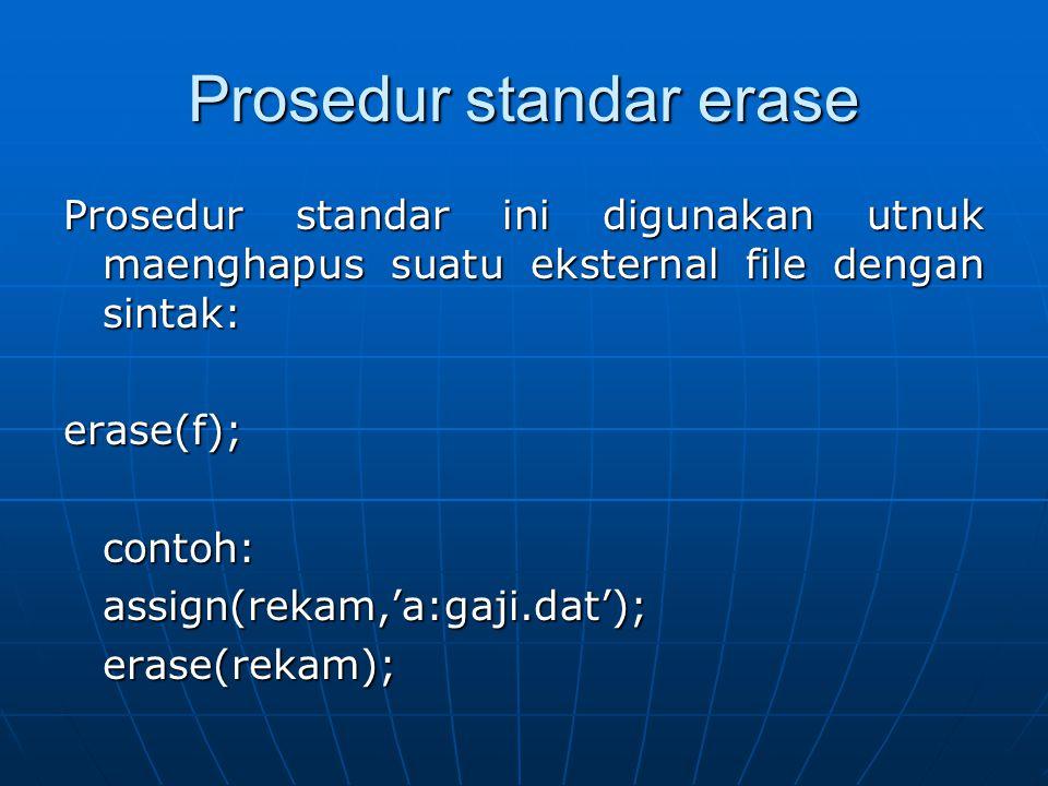 Prosedur standar erase