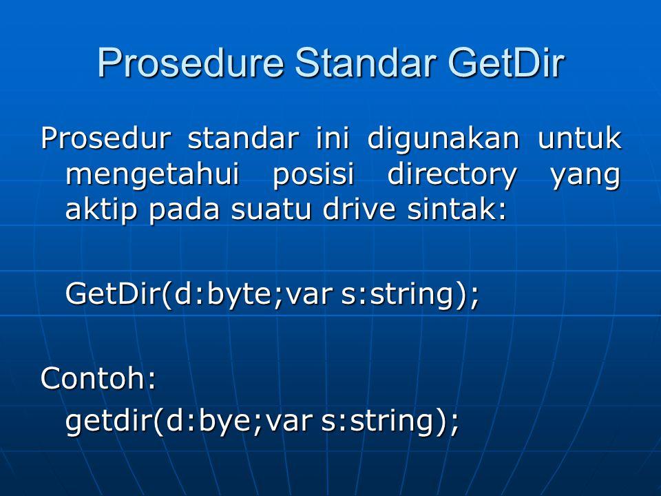 Prosedure Standar GetDir
