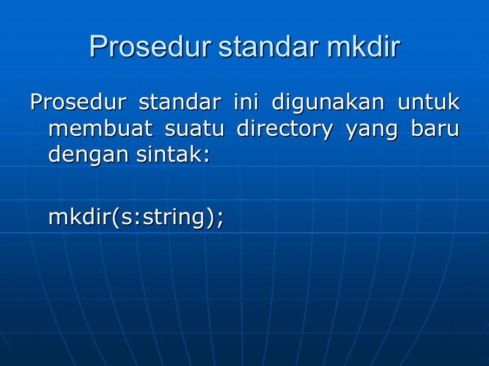 Prosedur standar mkdir