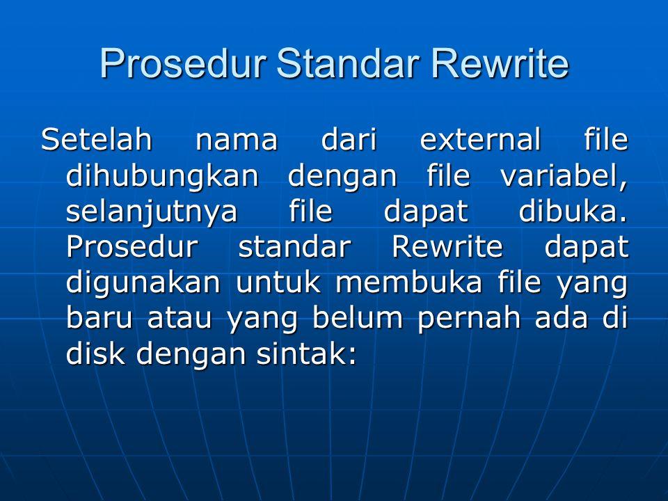 Prosedur Standar Rewrite