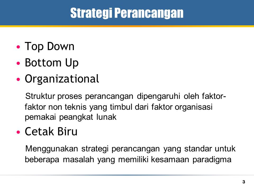 Strategi Perancangan Top Down Bottom Up Organizational