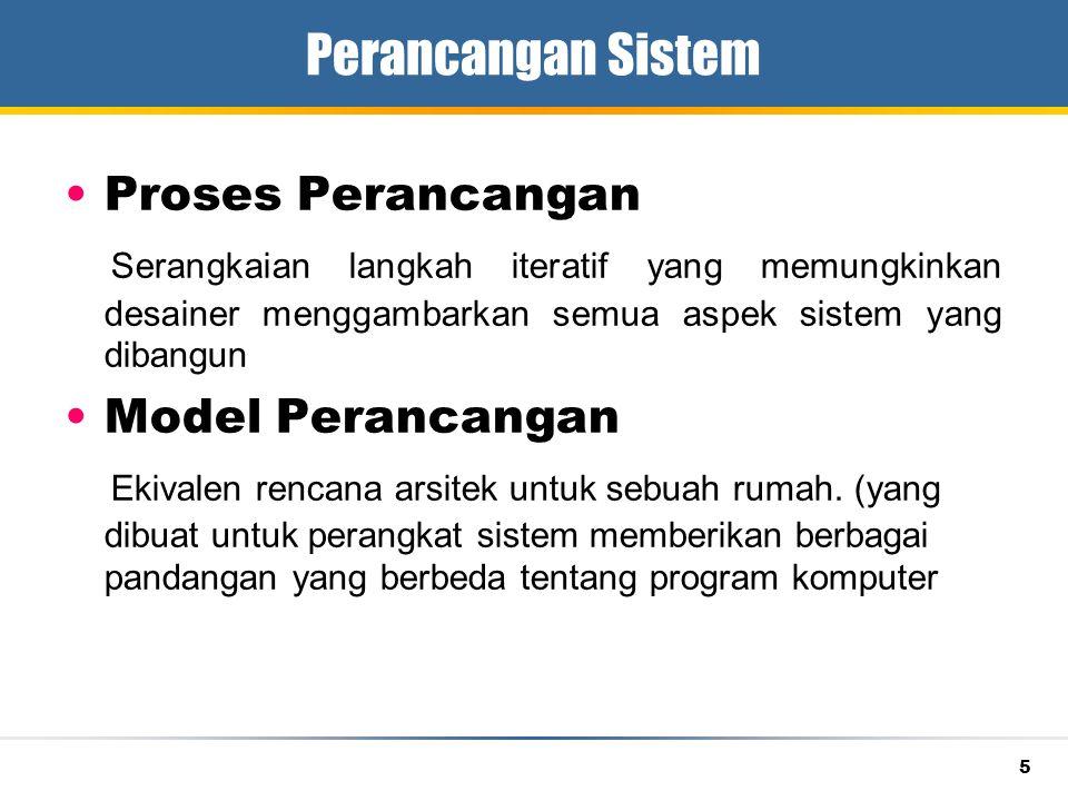 Perancangan Sistem Proses Perancangan