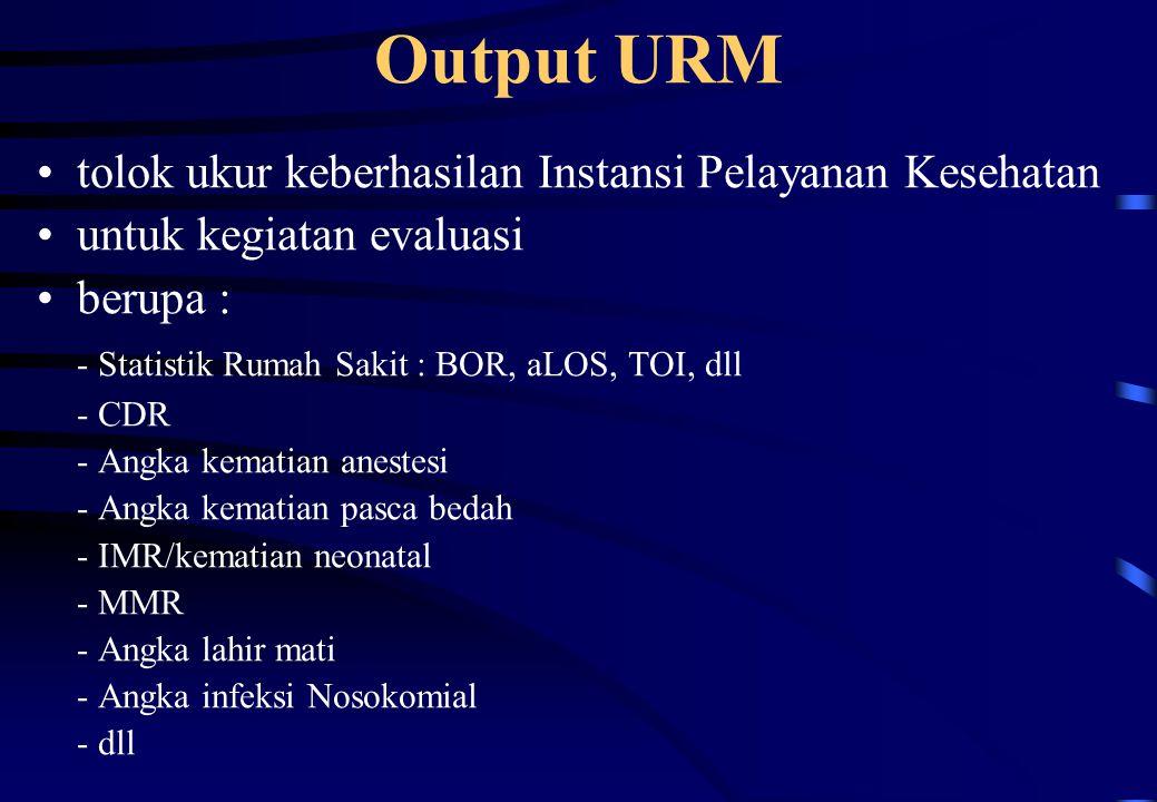 Output URM tolok ukur keberhasilan Instansi Pelayanan Kesehatan