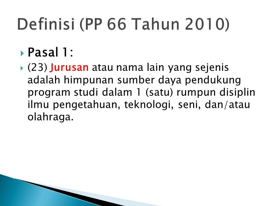 Definisi (PP 66 Tahun 2010) Pasal 1:
