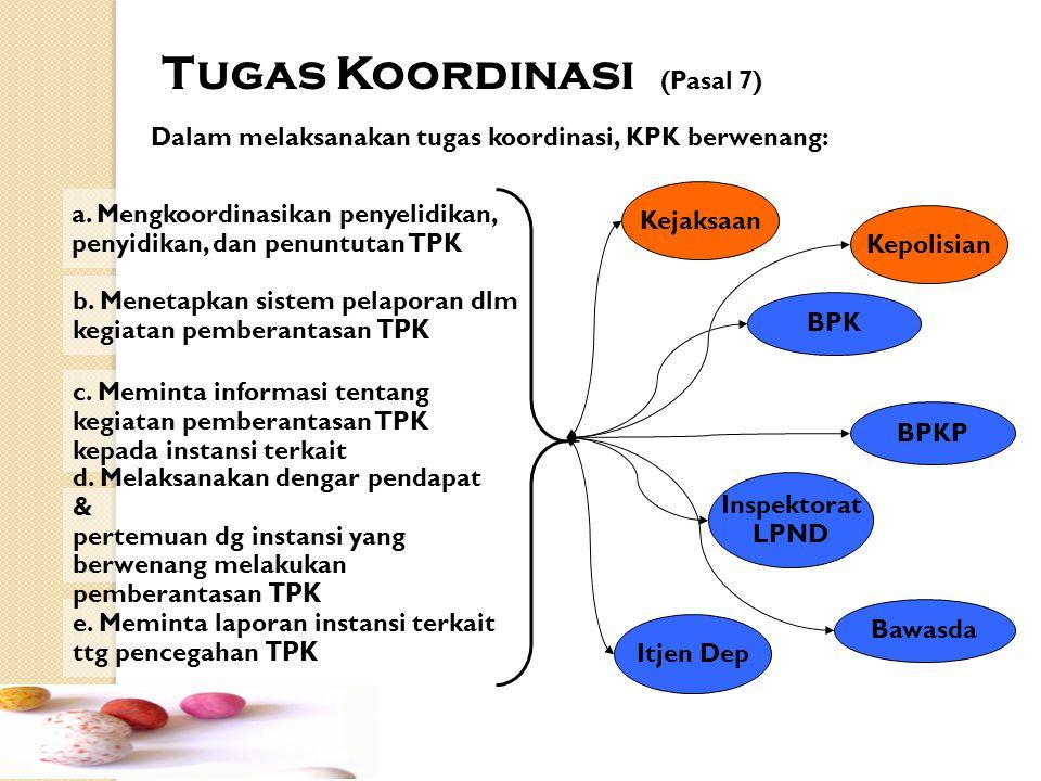 Tugas Koordinasi (Pasal 7)
