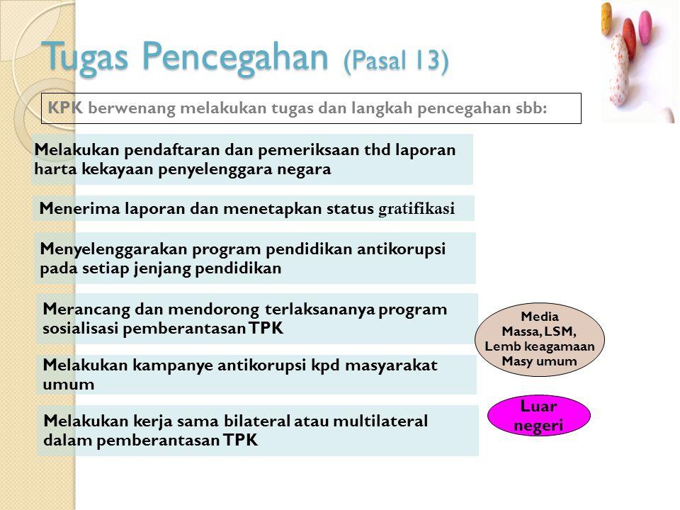 Tugas Pencegahan (Pasal 13)