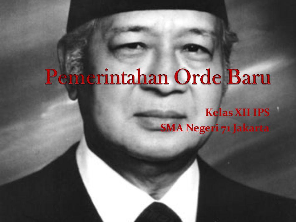 Pemerintahan Orde Baru