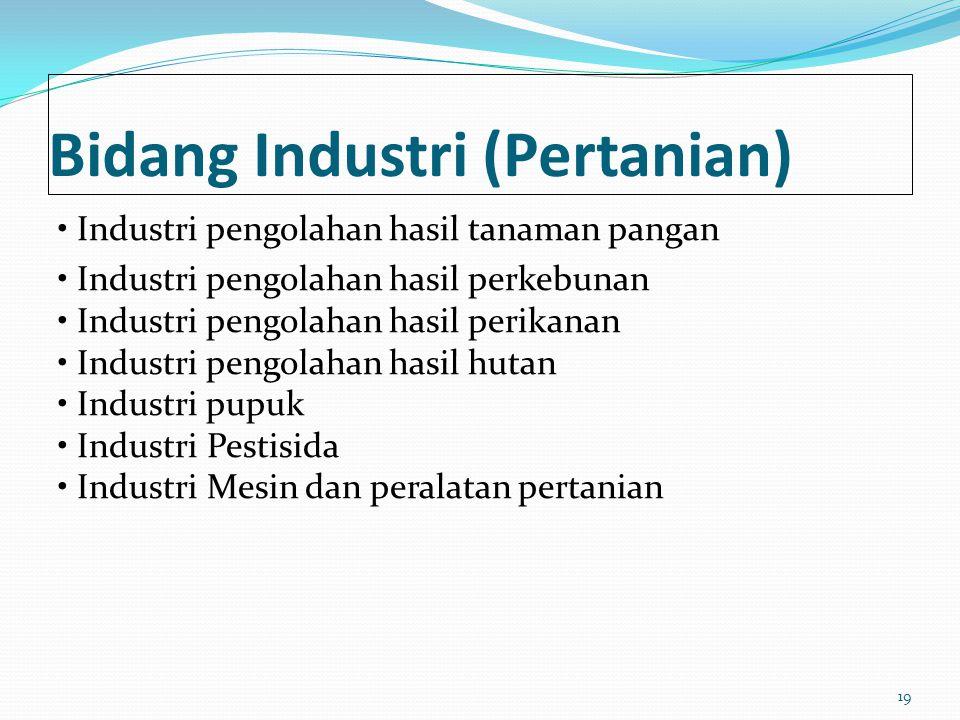 Bidang Industri (Pertanian)