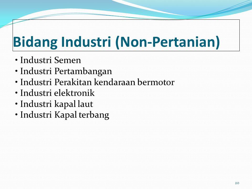 Bidang Industri (Non-Pertanian)