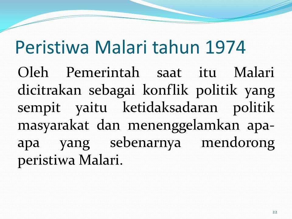 Peristiwa Malari tahun 1974