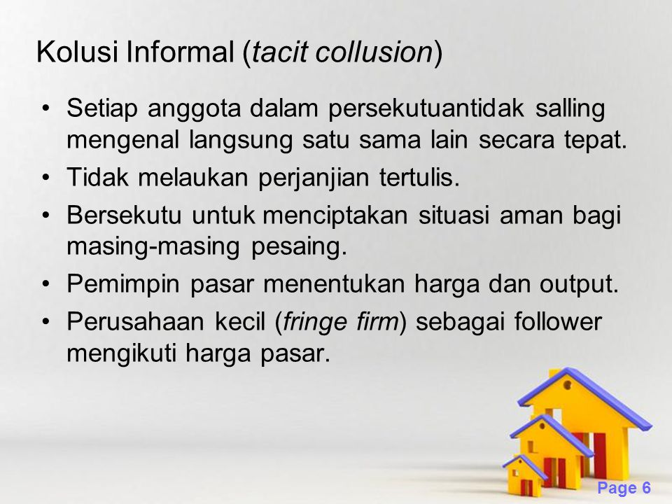 Kolusi Informal (tacit collusion)