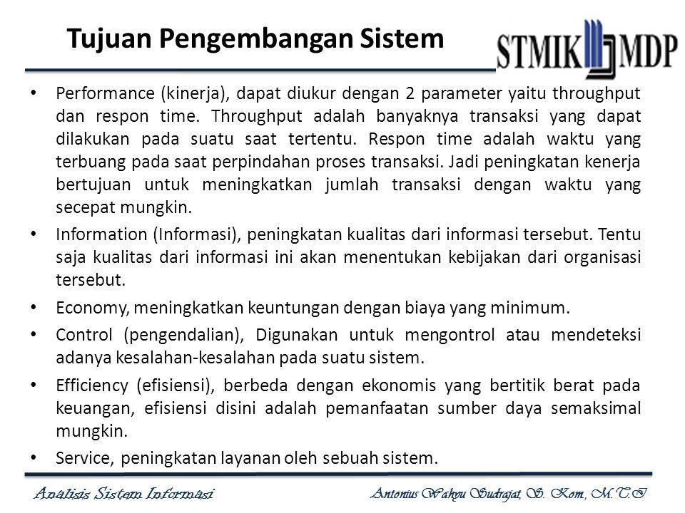 Tujuan Pengembangan Sistem
