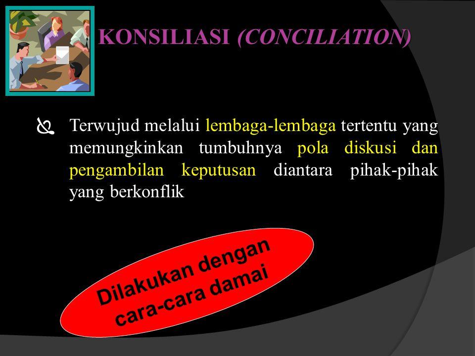 KONSILIASI (CONCILIATION)