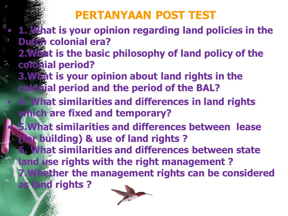 PERTANYAAN POST TEST