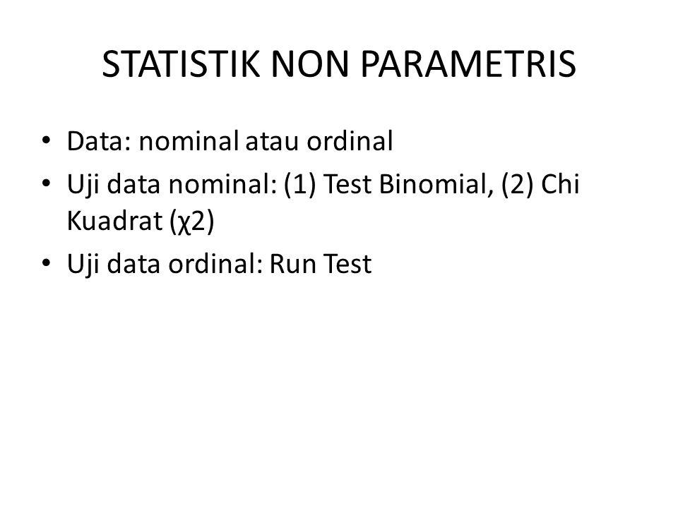 STATISTIK NON PARAMETRIS