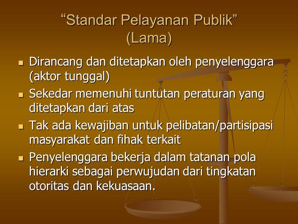 Standar Pelayanan Publik (Lama)