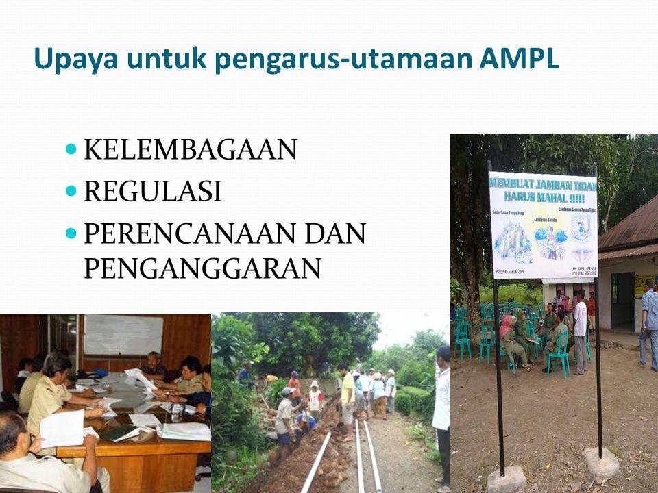 Upaya untuk pengarus-utamaan AMPL