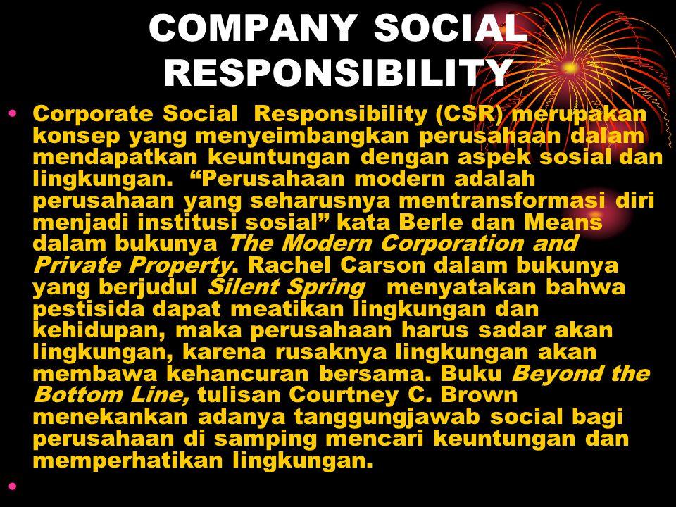 COMPANY SOCIAL RESPONSIBILITY