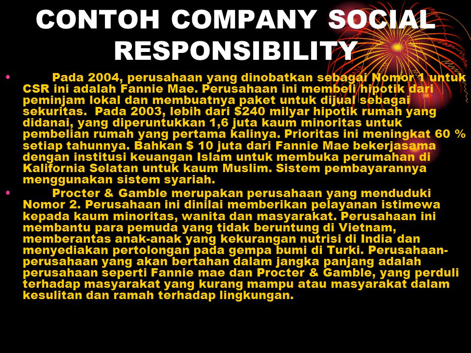 CONTOH COMPANY SOCIAL RESPONSIBILITY