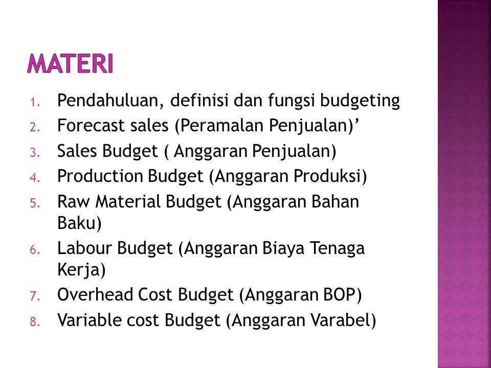 MATERI Pendahuluan, definisi dan fungsi budgeting