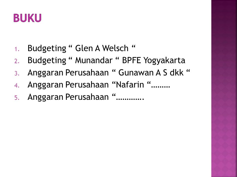 Buku Budgeting Glen A Welsch